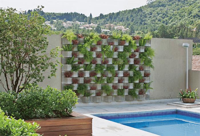 jardim vertical rio preto casa do concreto blocos de concreto. Black Bedroom Furniture Sets. Home Design Ideas
