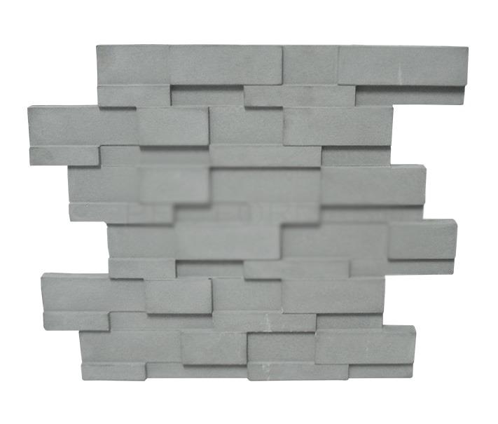Parede 3D revestimento (modelo pedra ferro)